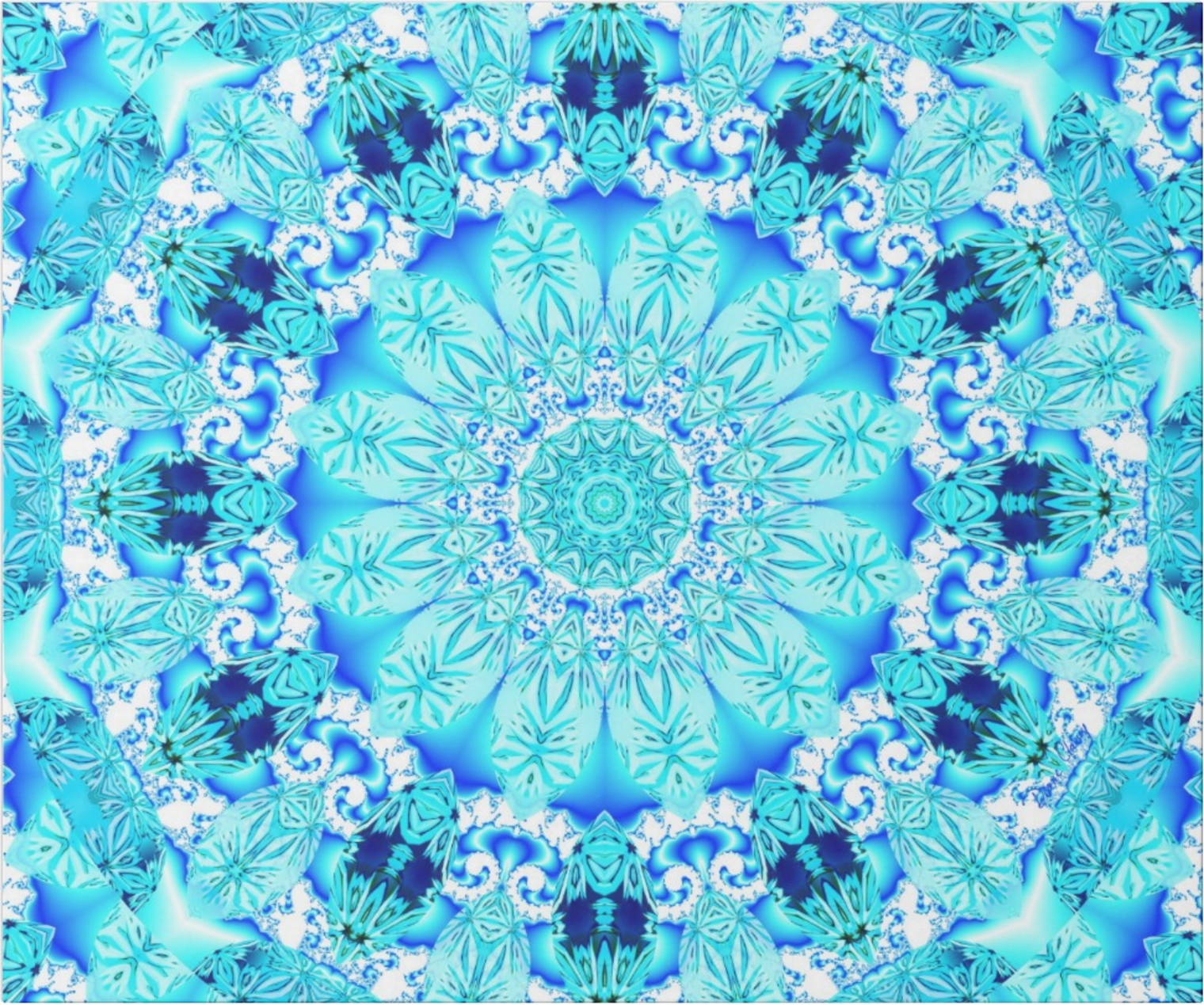 light blue lace mandala - photo #20