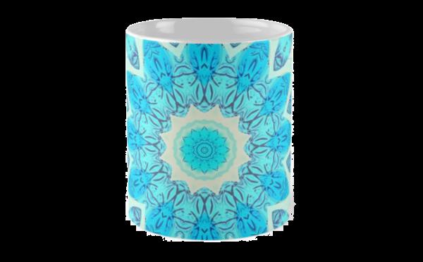 Blue Ice Goddess, Abstract Crystals of Love Mandala | Mug