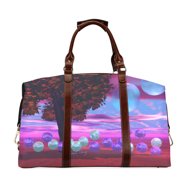 Bubble Garden, Abstract Rose Azure Wisdom Classic Travel Bag (Model 1643)