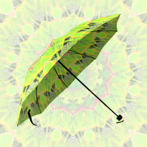 Golden Green Foliage Ferns Abstract Summer Days | Foldable Umbrella
