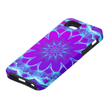 Sold! ❤ Psychedelic Stars, Abstract Violet Purple Glow iPhone Case