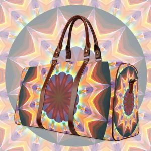 Santa Fe Summer Night, Abstract Warm Romance Waterproof Travel Bag/Large (Model 1639)