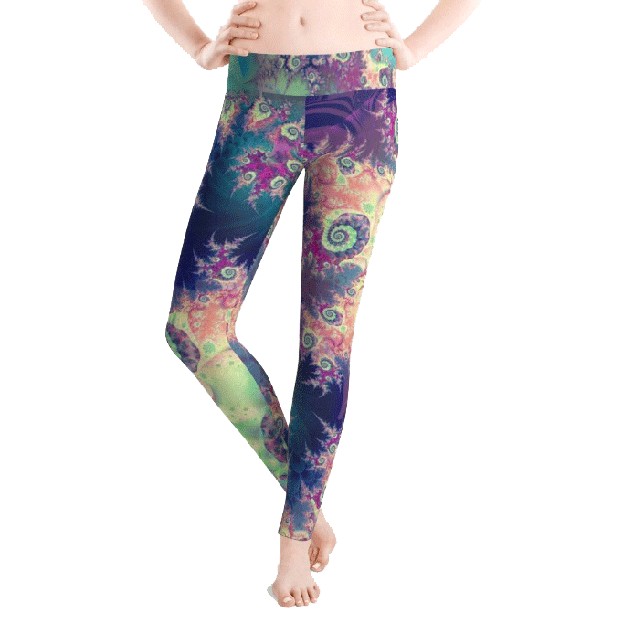 Sold! ❤ Violet Teal Abstract Forest Leggings